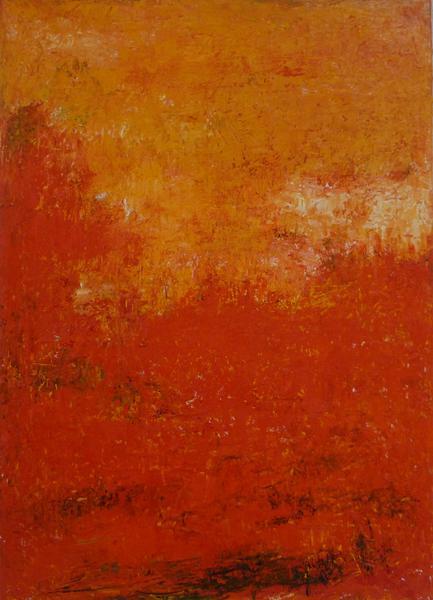 Natuurbeeld - Olieverf op doek - 90 x 65 cm