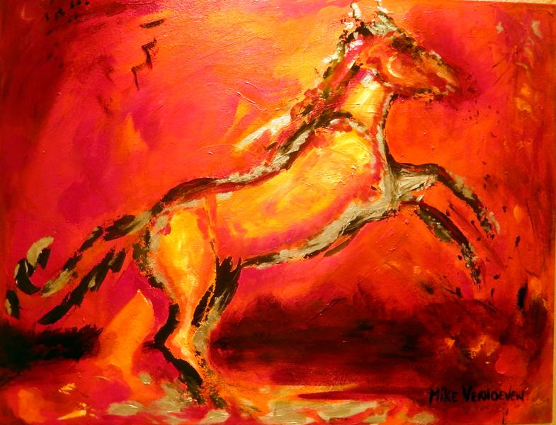 Paard - 90 x 70 - Acrylverf - 2014