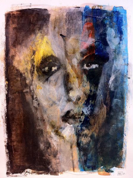 Portret 1 - Acryl op papier 40x55