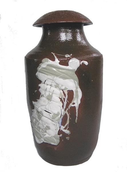 Robuuste Vaas I - klei, glazuur, porselein - 45x25x25 cm